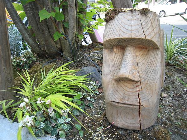 Carving Sculpture - Moai Garden Sculpture by Braven Smillie