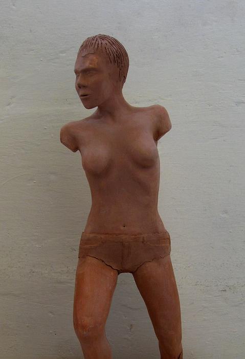 Clay Ceramic Art - Model Female Nude.01 by Ray Agius