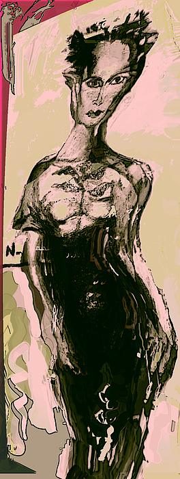 Fashon Painting - Model IIi by Noredin Morgan