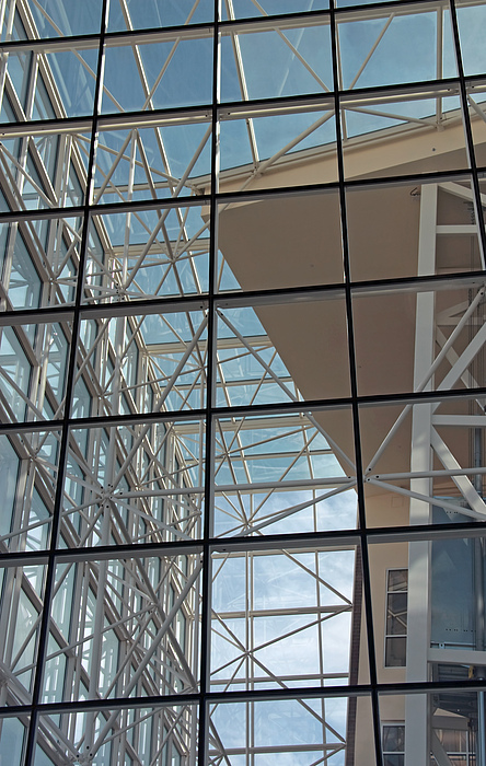 Glass Photograph - Modern Architecture 4 by Steve Ohlsen