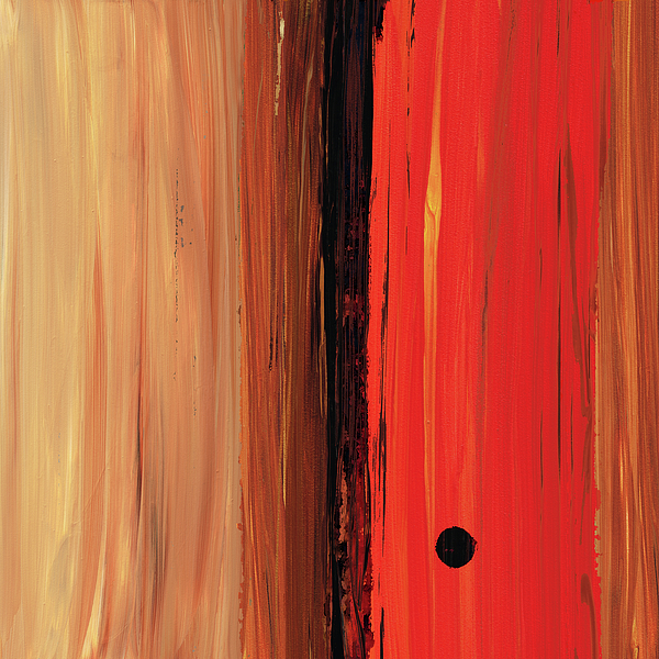 Red Painting - Modern Art - The Power Of One Panel 1 - Sharon Cummings by Sharon Cummings