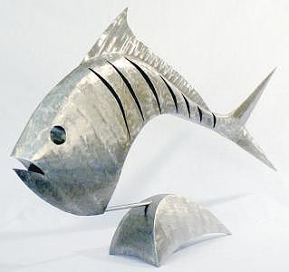 Modern Circlefish Sculpture by Stuart Peterman