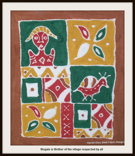 Wall Hanging Tapestry - Textile - Mogale Is Mother Of The Village Respected By All by  Harriet Oloro