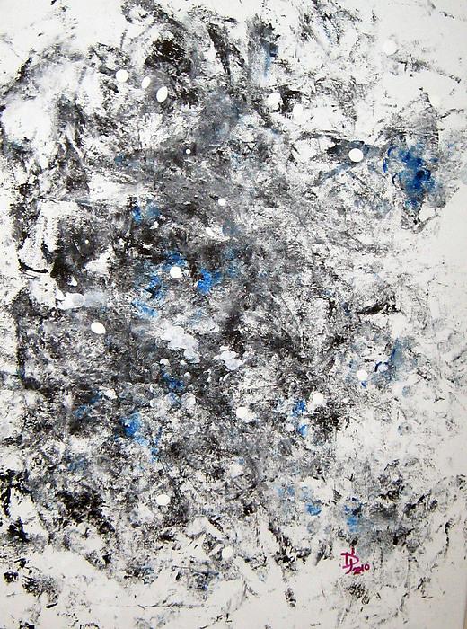 Trippy Painting - Molecular Night Taking Over For Molecular Day by Jennifer JenniFire DAndrea