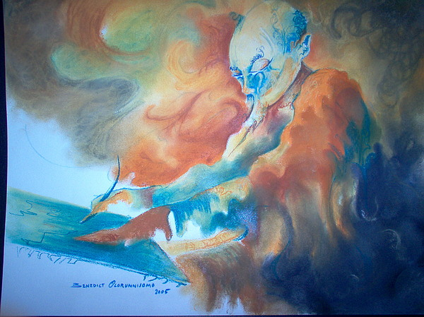 Moment Of Inspiration Painting by Benedict Olorunnisomo