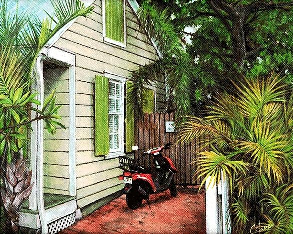 Landscape Painting - Moms Home by Carlos Alvarez