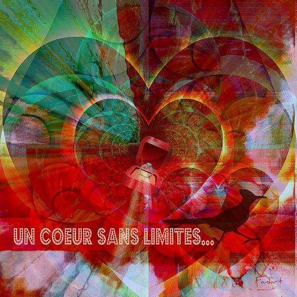 Fania Simon Digital Art - Mon Coeur - My Heart by Fania Simon