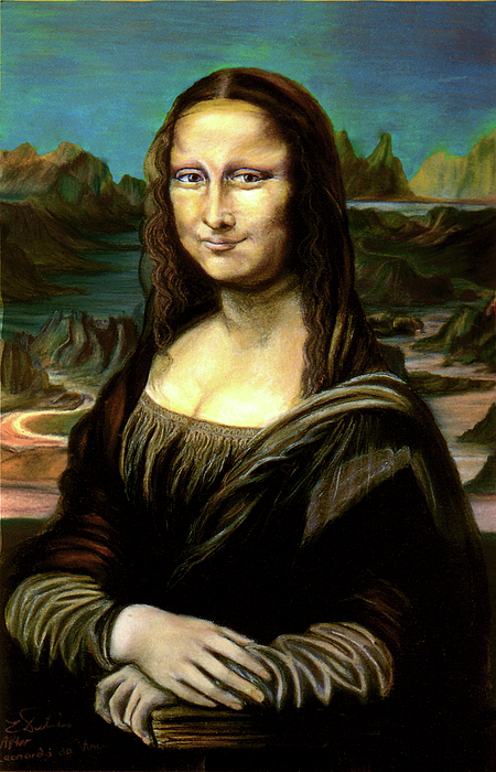 Mona Lisa Pastel - Mona Lisa My Version by Elisabeth Dubois