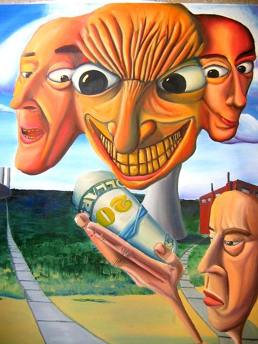 Faces Painting - Money Takers. by Robert  Nugent
