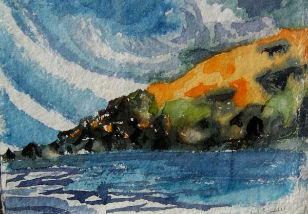 Monhegan Sky Painting by Patricia Bigelow