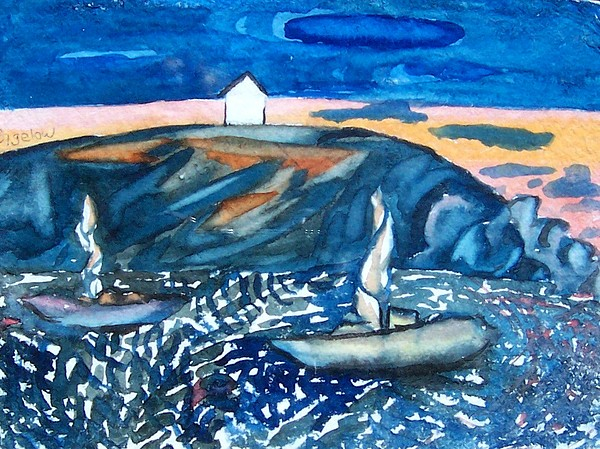 Monhegan Sunset Painting by Patricia Bigelow