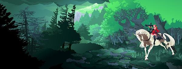 Flash Digital Art - Monika Broz Web Banner by Alexandru Sacui
