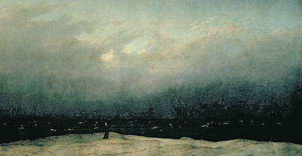 Monk Painting - Monk By Sea by Caspar David Friedrich
