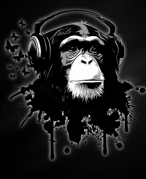 Ape Painting - Monkey Business - Black by Nicklas Gustafsson