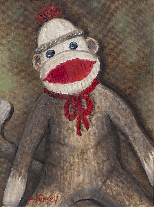 Monkey Painting - Monkey Business by Sheila Kinsey