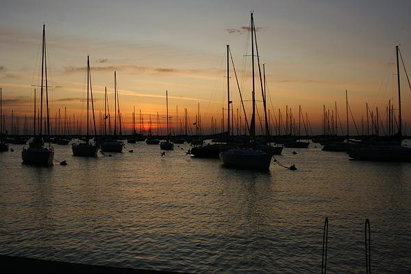Landscape Photograph - Monroe Harbor Sunrise by Gregory Jeffries