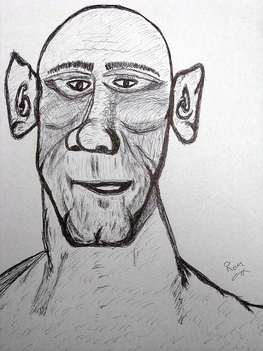 Famous Faces Drawing - Monster Tom And His Radar Ears by Robert Margetts