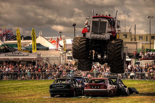Monster Photograph - Monster Truck Destruction  by Rob Hawkins