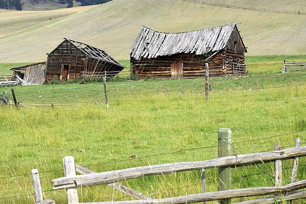 Barns Photograph - Montana Ranch by Marty Koch