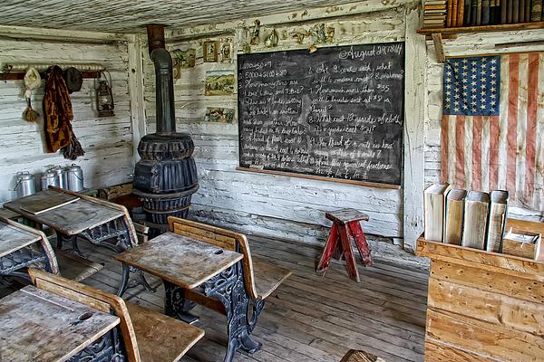 School Photograph - Montana School Lesson August 29 1864 by Daniel Hagerman