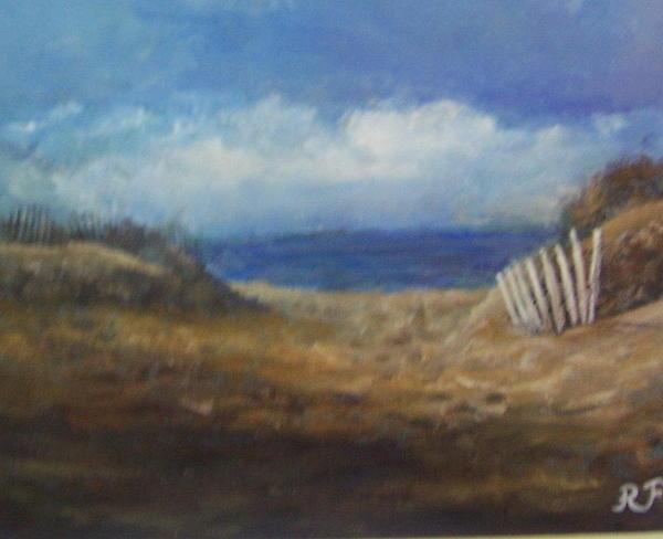 Montauk Print - Montauk Beach by Richard Finnell