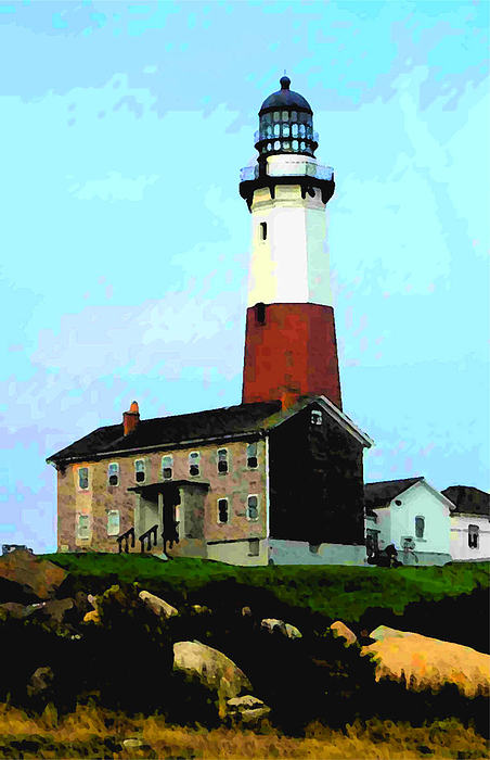 Lighthouse Photograph - Montauk by Richard Gerken
