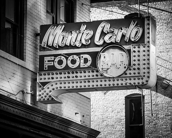 Sign Photograph - Monte Carlo Food by Perry Webster