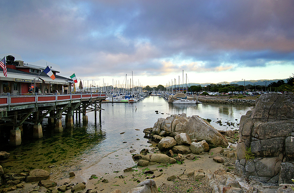Harbor Photograph - Monterey Harbor - Old Fishermans Wharf - California by Brendan Reals