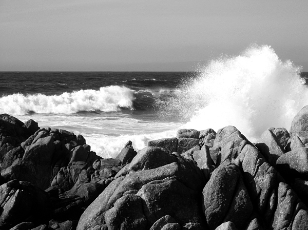 Wave Photograph - Monterey Waves by Halle Treanor