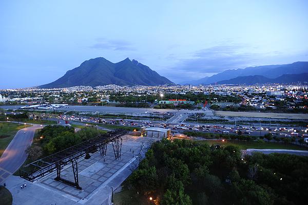 Outdoors Photograph - Monterrey At Dusk With Cerro De La by Raul Touzon