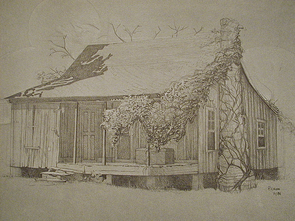 Mountain Home Drawing - Montgomery County by Penny Cash