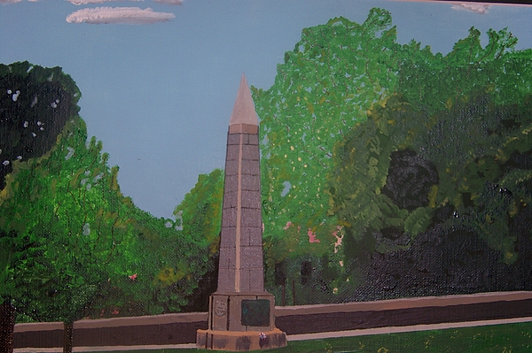 Revolutionary War Painting - Monument Of The Revolutionary War Of 1776 by William Demboski