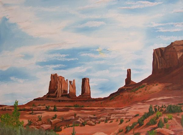 Landscape Painting - Monument Valley by Robert Silvera