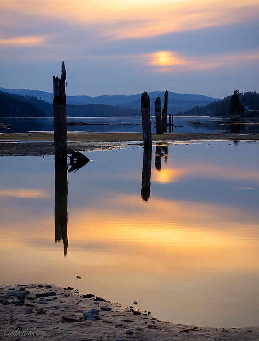 Moody Photograph - Mood On The Bay by Idaho Scenic Images Linda Lantzy