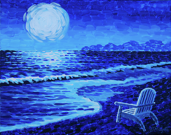 Moon Painting - Moon Beach by Tommy Midyette