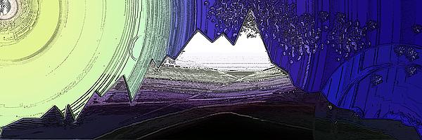 Mount Digital Art - Moon Everest by Patrick Guidato