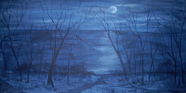 Moonlight Painting - Moonlight On The Water by Nora Niles