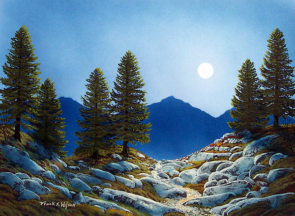 Landscape Painting - Moonlit Trail by Frank Wilson