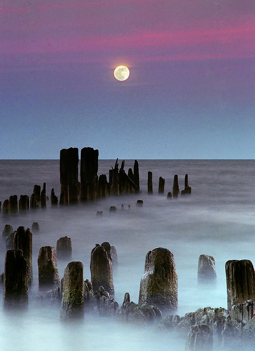 Vertical Photograph - Moonrise by James Jordan Photography