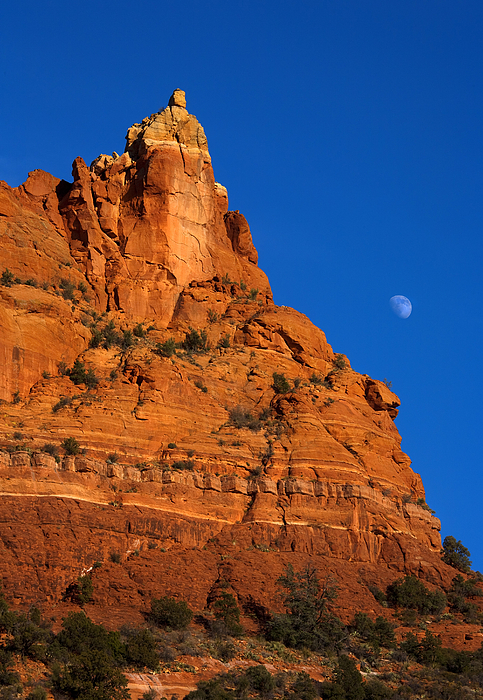 Moonrise Photograph - Moonrise Over Red Rock by Mike  Dawson
