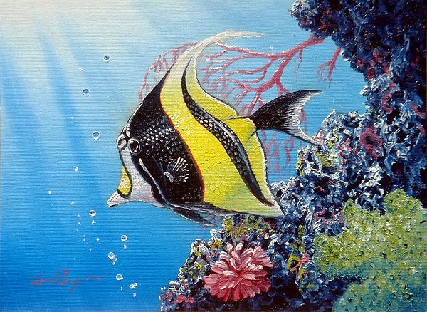Fish Painting - Moorish Idol by Daniel Bergren