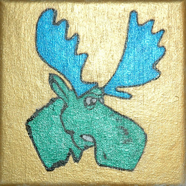 Moose Painting - Moose by Mikey Milliken