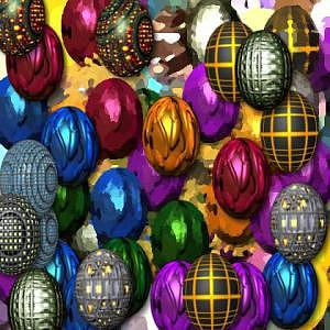 Eggs Digital Art - More Digital Eggs by Caroline Lifshey