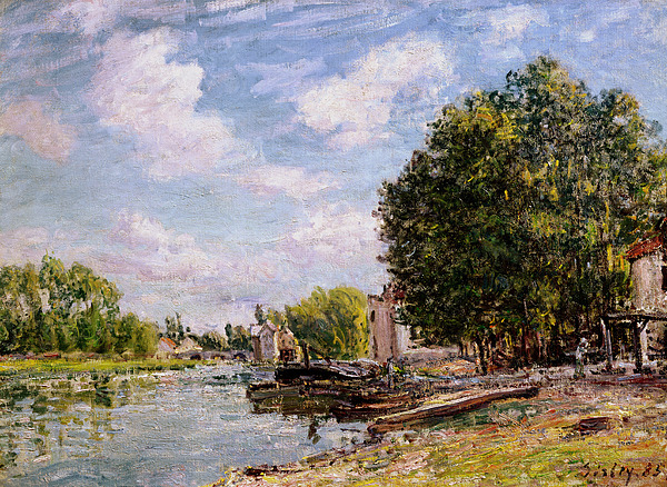 1885 Painting - Moret-sur-loing by Alfred Sisley