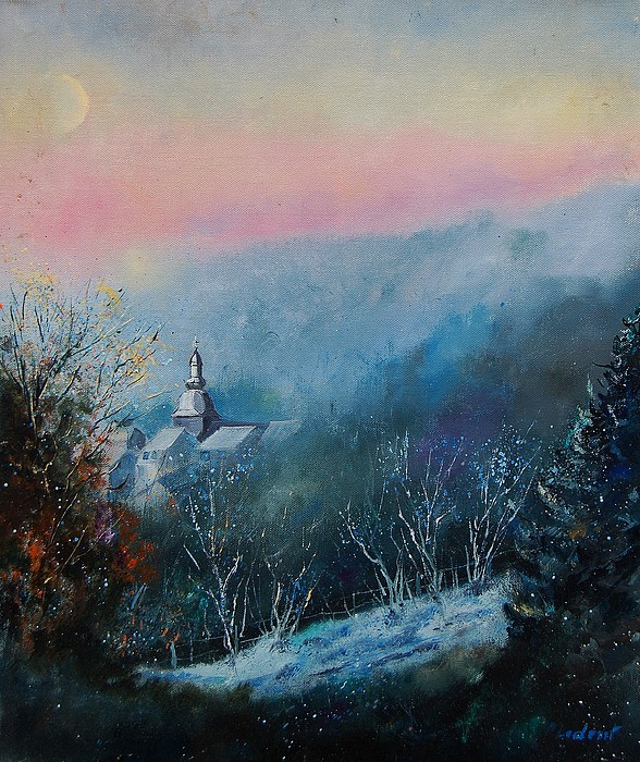 Winter Painting - Morning Frost by Pol Ledent