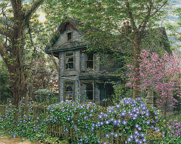 Old House Painting - Morning Glory by Doug Kreuger