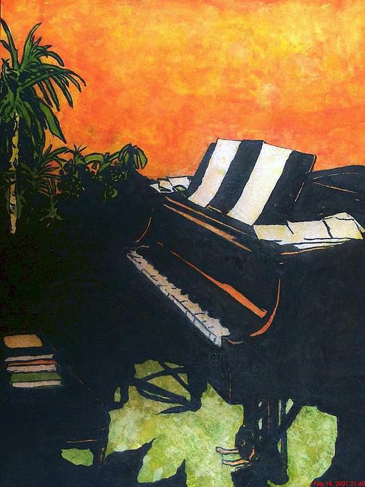 Piano Painting - Morning Glory by Shane Hurd