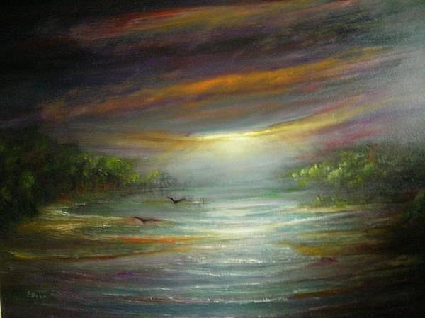 Sunrise Painting - Morning Glow by Eileen Anderson