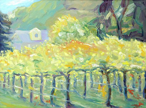 Napa Valley Vineyard Painting - Morning In Napa Valley by Barbara Anna Knauf