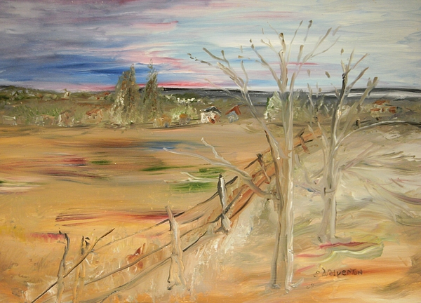 Landscape Painting - Morning Light by Edward Wolverton